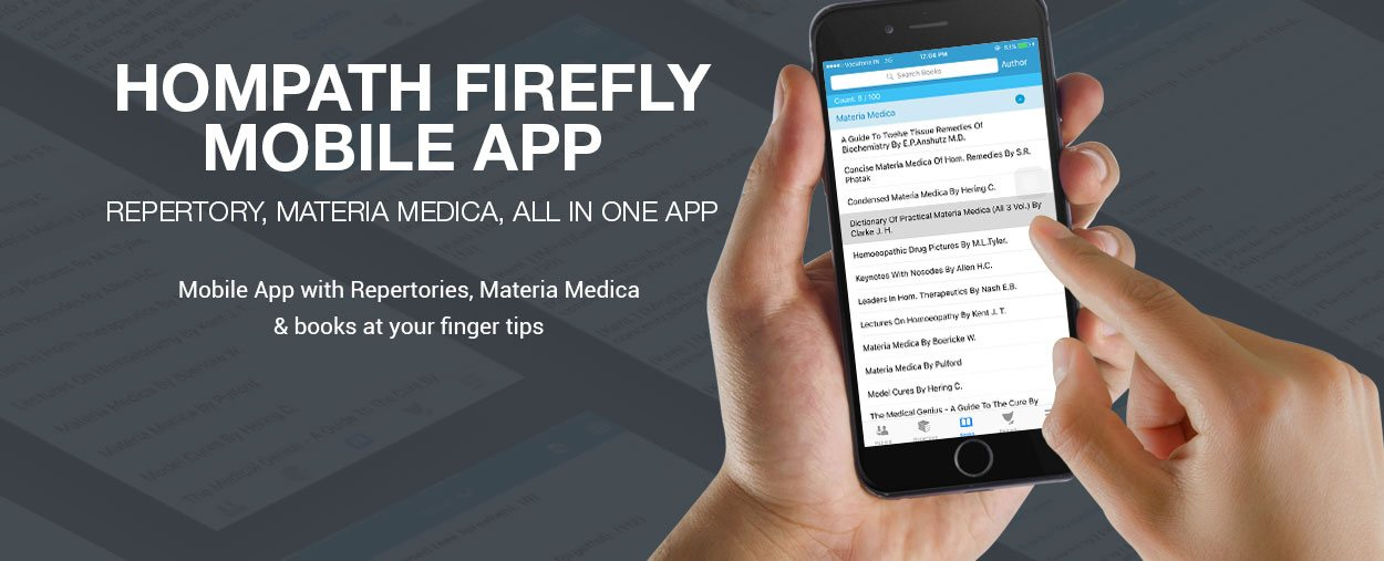 Homeopathy mobile app