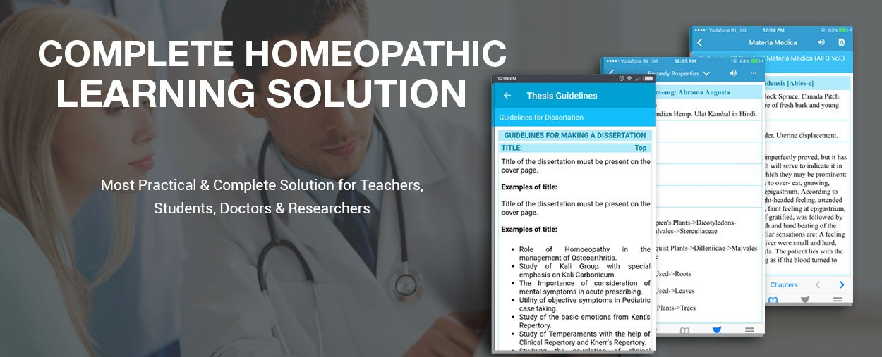 homeopathy mobile program